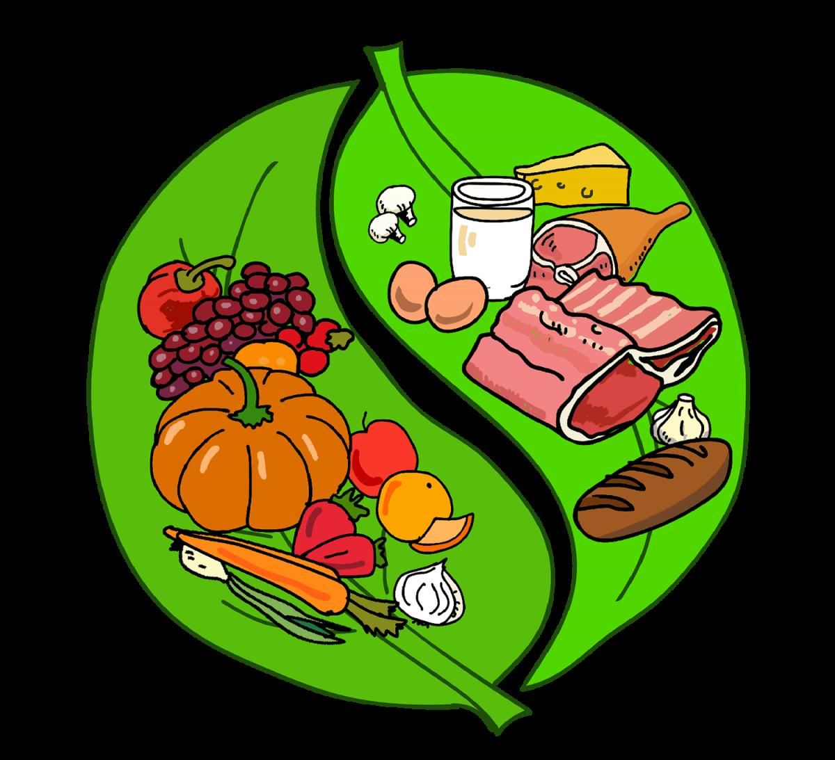 Картинка по правильному питанию для детей